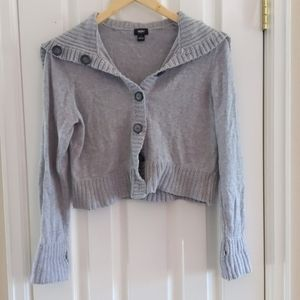 Cropped gray Mossimo sweater